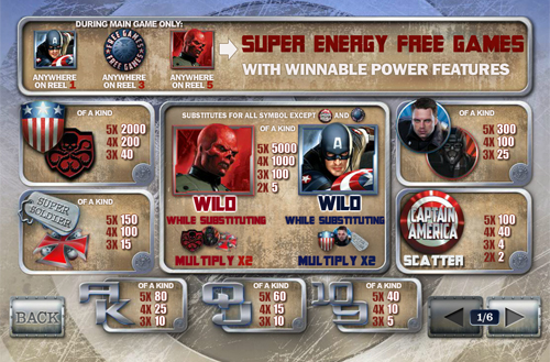 free Captain America - The First Avenger slot mini symbol