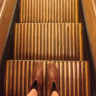Macy's original wooden escalators, built in 1902! #heraldsquare #nyc #latergram