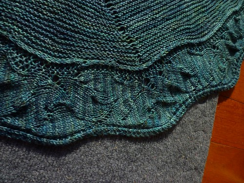 Canyonlands Shawl Detail