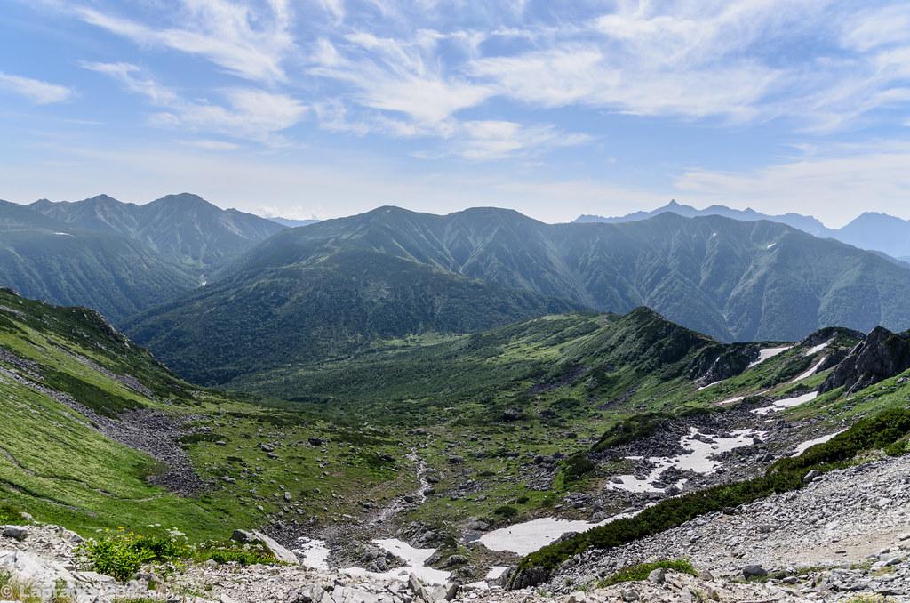 20130813 黒部五郎カールと北アルプスの山々