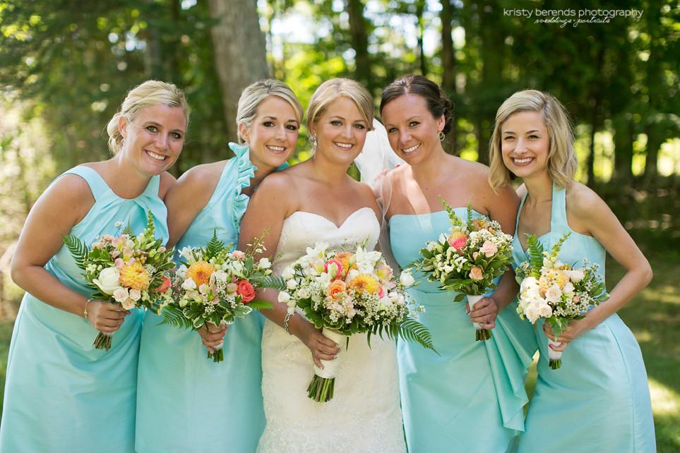 Bridesmaids in Turquoise