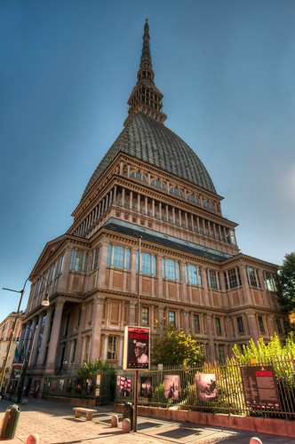 Exterior of the Museo Nazionale del Cinema in Turin Italy