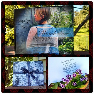 I wish all #review books arrived like this... Such a pretty package and inscribed with a wonderful, thoughtful note. Thank you Gina...and congrats! #Wonderlace #knitstagram