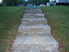 Cardinal Hills Golf Course steps to parking lot