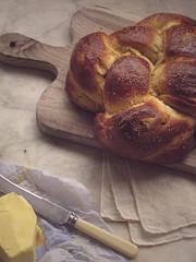 dish(0.0), meal(1.0), breakfast(1.0), baking(1.0), bread(1.0), baked goods(1.0), challah(1.0), produce(1.0), food(1.0), dessert(1.0), brioche(1.0),