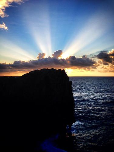 japan sunrise island peace view cape okinawa sunrays northern heavenly hedo