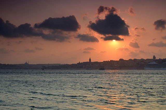Atardecer desde Uskudar, Estambul