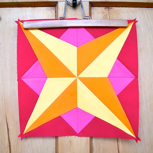 Star Block for Simply Solids bee