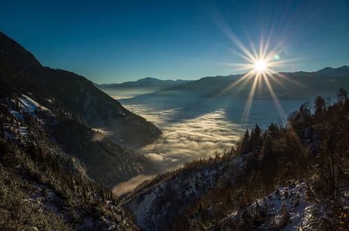 mountains clouds sunrise austria tirol ricoh ricohgr tyrol karwendel