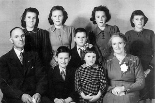 My mother with parents and siblings.