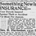 bicycle Insurance Ad in Paper