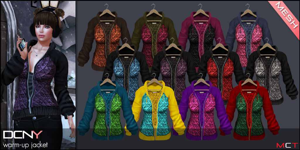 DCNY Warm-Up Jacket Colors