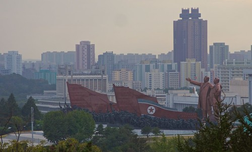 travel bus monument children landscape student scenery asia cityscape olympus korea communist omd pyongyang dprk kaesongcity youngpioneertours