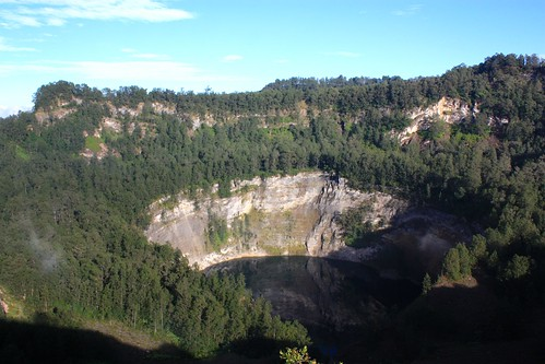 The third red pool of the Kelimutu volcano