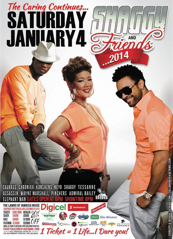 SHAGGY & FRIENDS LIVE MUSIC SHOW 2014 FLYER