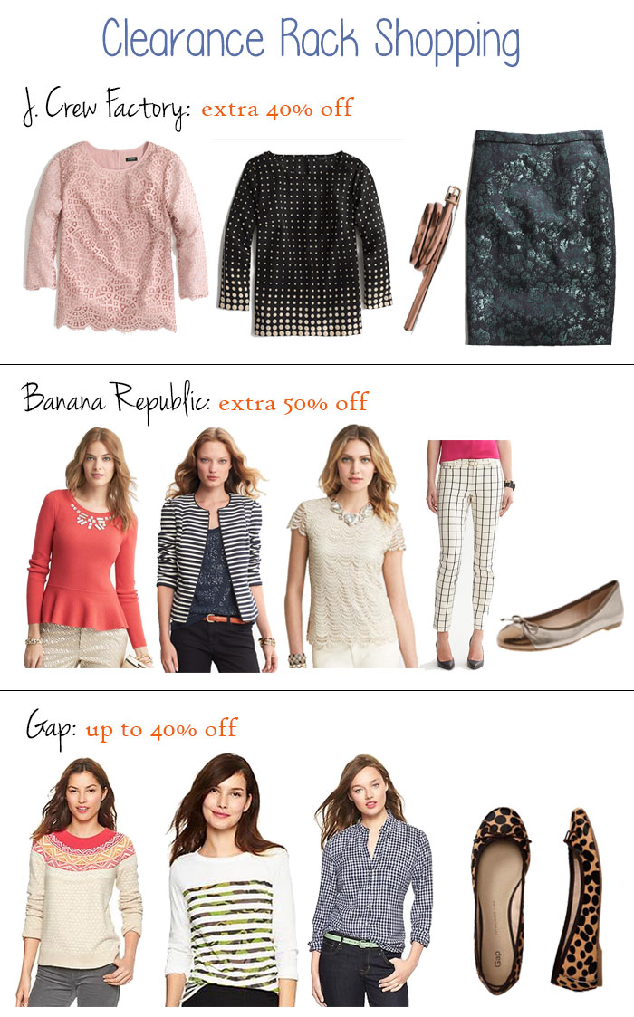 cute & little blog | post-holiday clearance rack shopping