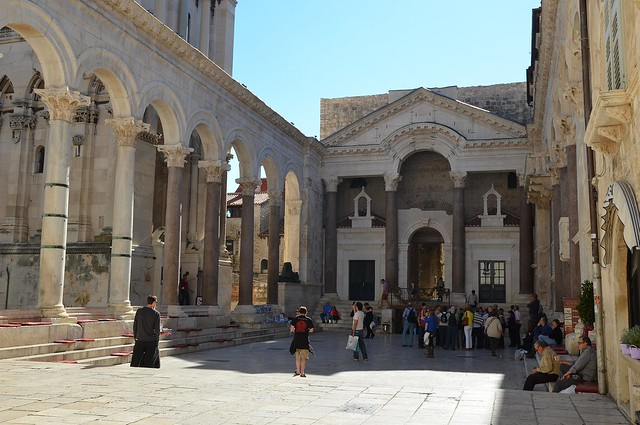 Peristyle of Diocletian's Palace, Split
