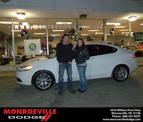 Happy Anniversary to Leanne Powers on your 2013 #Dodge #Dart from Ronald Mcclelland  and everyone at Monroeville Dodge! #Anniversary by Monroeville Dodge