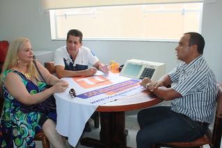 Cleusa Badanai, com David Martins e Fábio Pereira