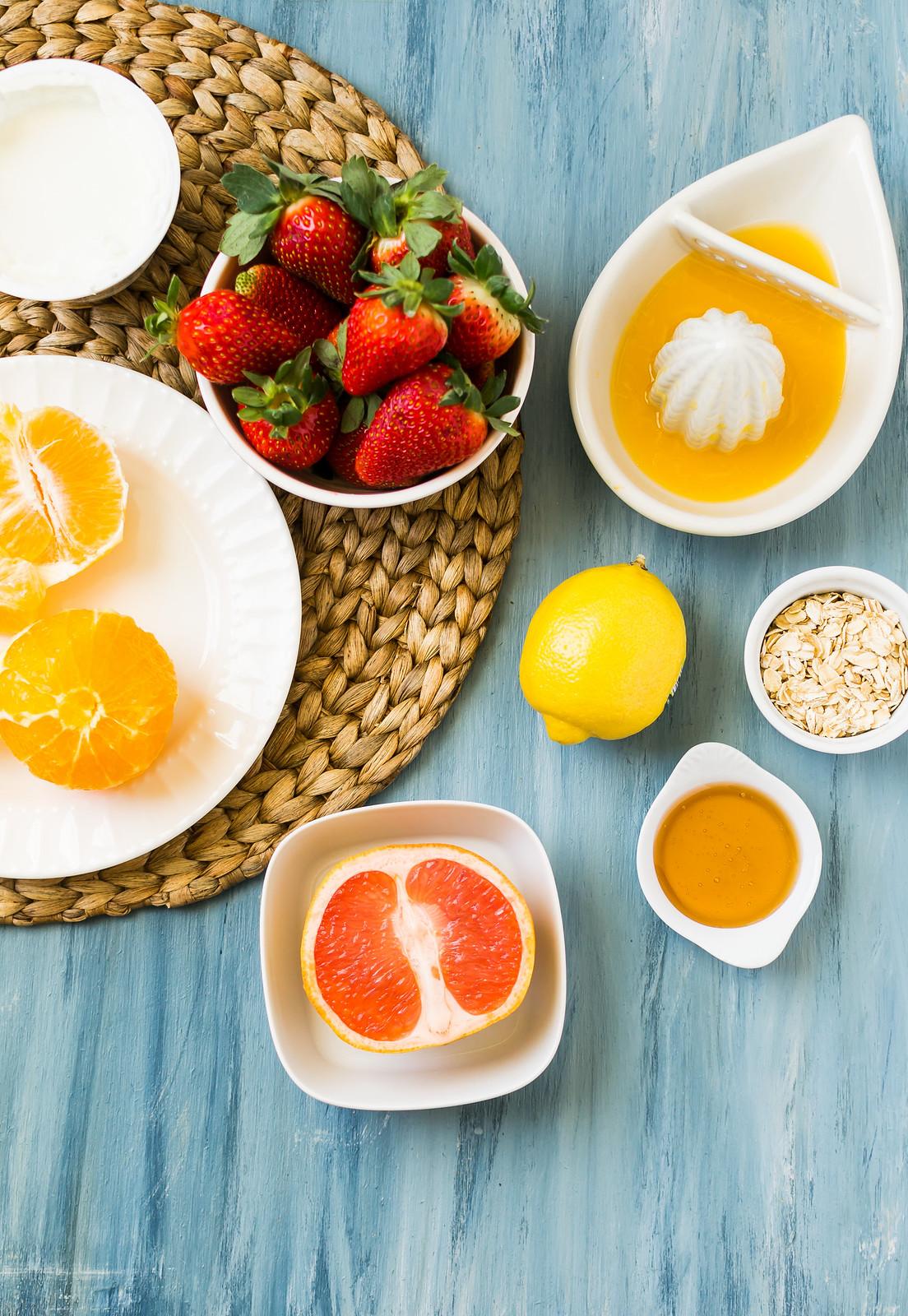 Skinny Sunrise Breakfast Smoothie Ingredient Spread