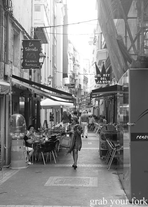 La Franja street in A Coruna, Galicia, Spain