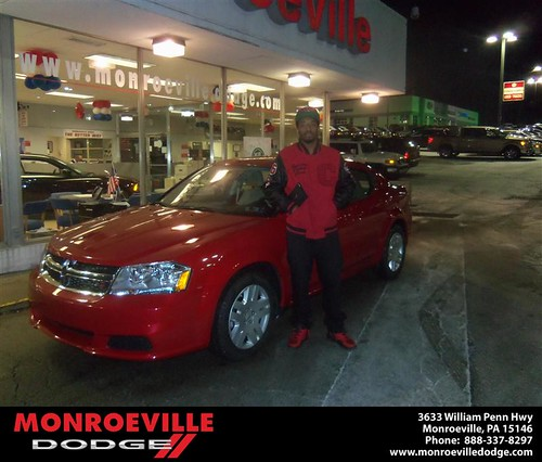 Happy Anniversary to Donald Vance Giddens on your 2013 #Dodge #Avenger from Chad Carpenter  and everyone at Monroeville Dodge! #Anniversary by Monroeville Dodge