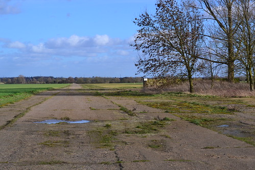 RAF Witchford Peri track looking east bomb stores to the right
