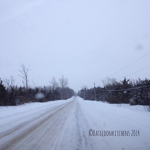 4/3/2014 - on my mind {with this drive home, spring is on my mind. I'm wondering when it will get here} #fmsphotoaday #winter #weather #snow #whereisspring #princeedwardcounty