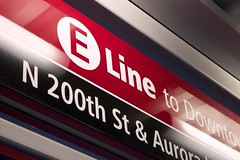 E Line Station Sign