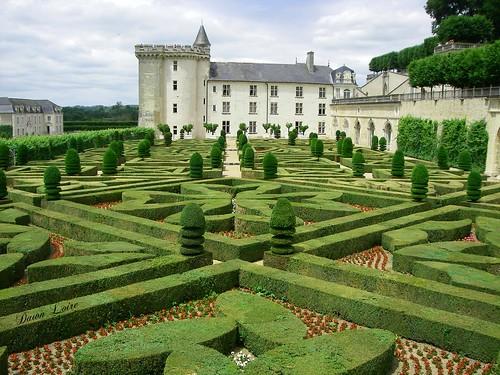 Flowers gardens. Castle of Villandry