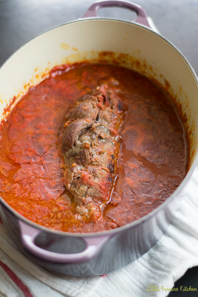 Braciole for Gallo #SundaySupper via LittleFerraroKitchen.com