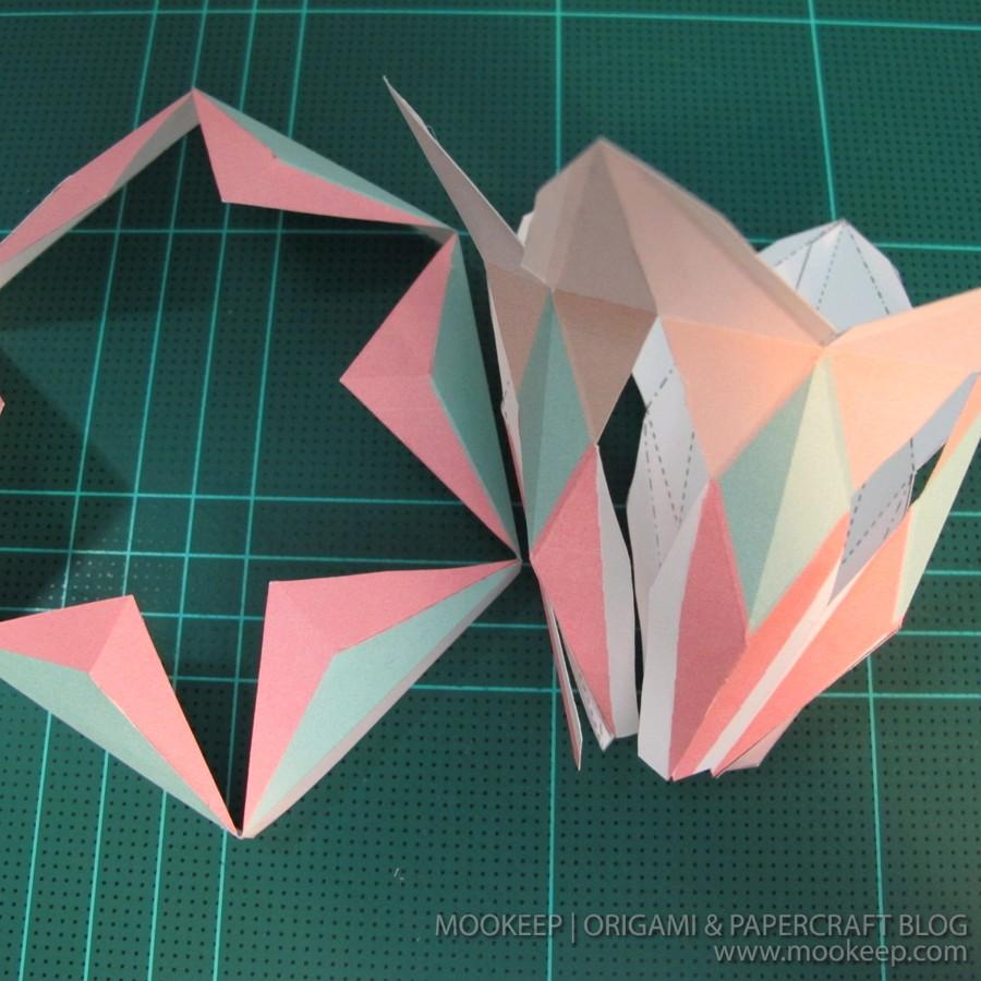 สอนทำโมเดลกระดาษเป้นรูปแจกันโบราณ (Papercraft Model Flower Vase) 014