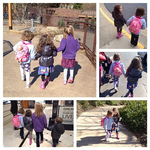 Because it is impossible to stop taking pictures of little girlfriends holding hands, but I could not find a collage template with more boxes.