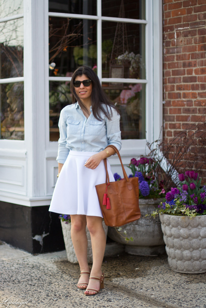 chambray shirt, white skirt-2.jpg