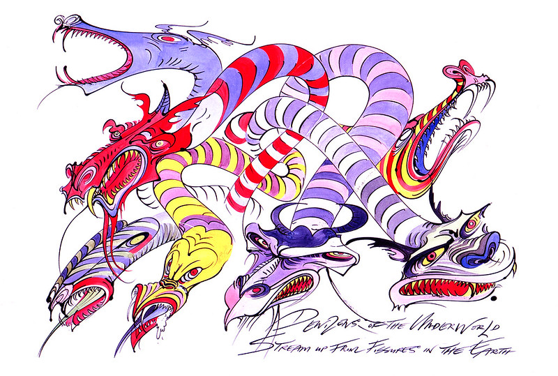 Gerald Scarfe - Hercules Conceptual Paintings 06