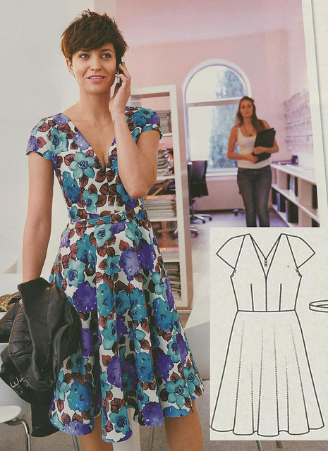 Burda May 2014 - Circle Dress