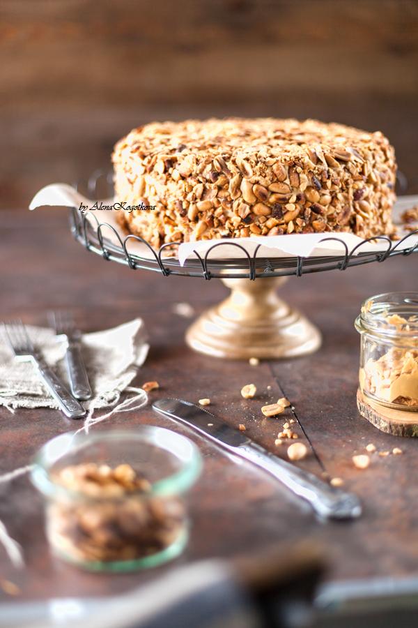 Чизкейк с арахисовой пастой - рецепт пошаговый с фото