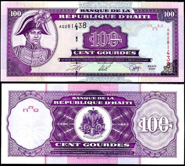 *100 Gourdes Haiti 2000, Pick 268
