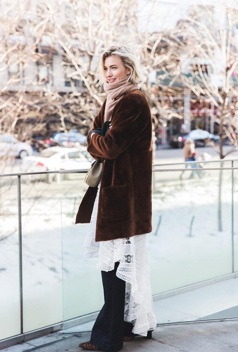 New_York_Fashion_Week-Fall_Winter_2015-Street_Style-NYFW-Zanita-Fur_Coat-Lace-Flared_Jeans--790x1185