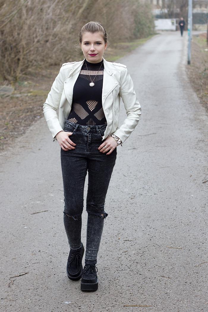 A-Sassy-Nation Bodysuit Black Milk ASOS Ridley Jeans Acid Wash Grunge Casual