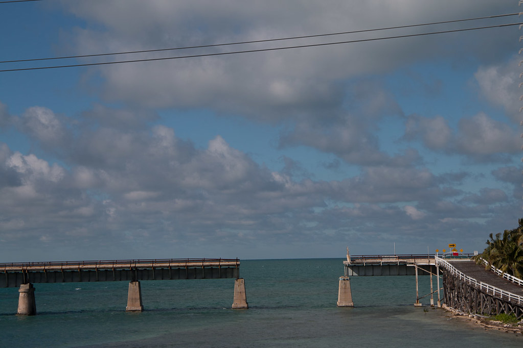 Overseas Highway road that runs parallel