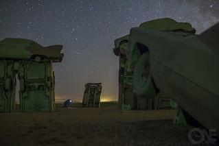 Carhenge at Night