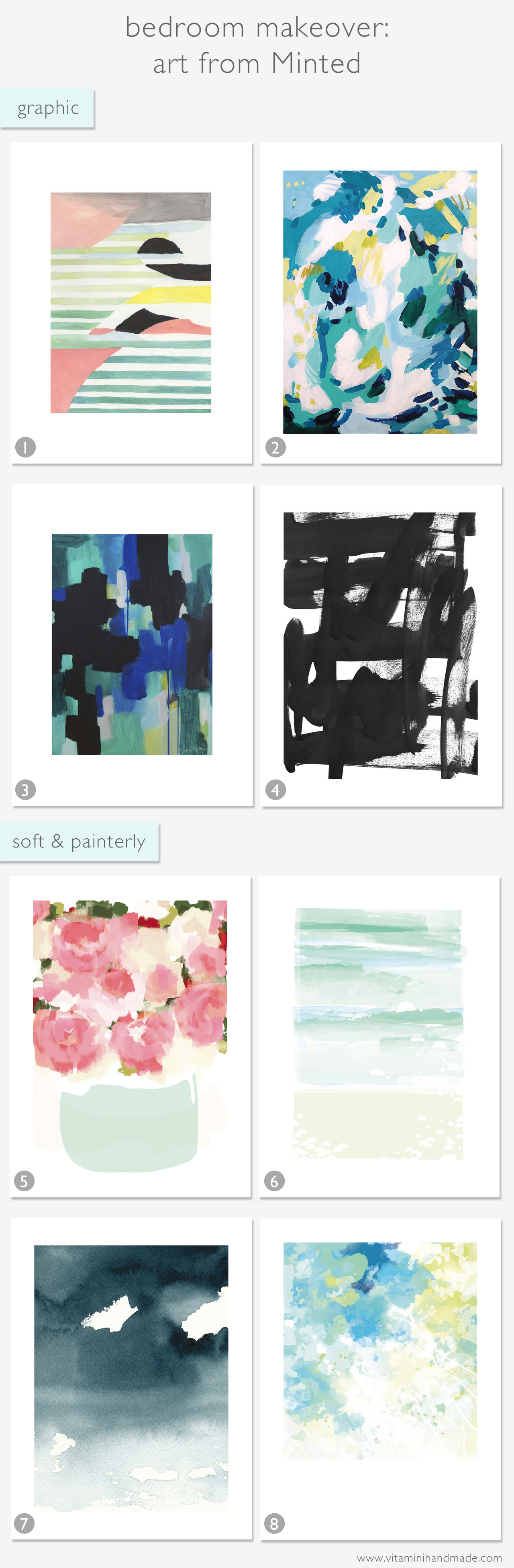 Bedroom Makeover: Art from Minted