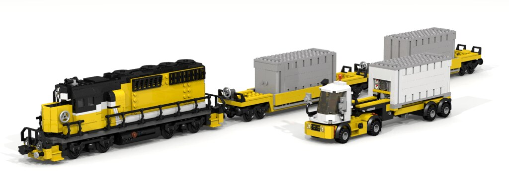 Maersk Train In Different Colours Lego Train Tech Eurobricks Forums