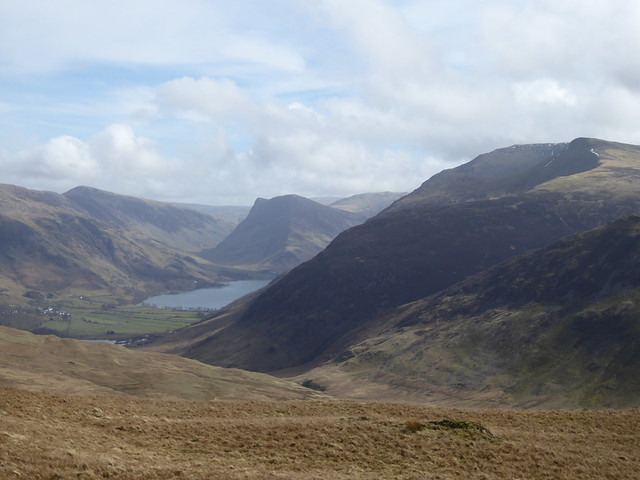 Buttermere and Fleetwith Pike from Hen Comb
