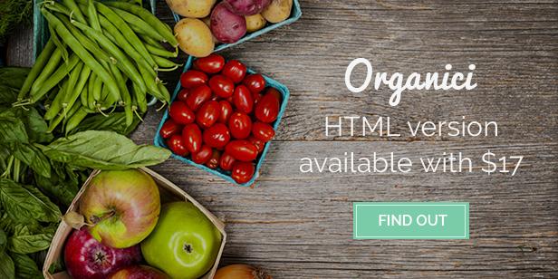 Organici - Organic Store HTML Template