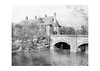 Clayton Hall bridge across moat, 1961