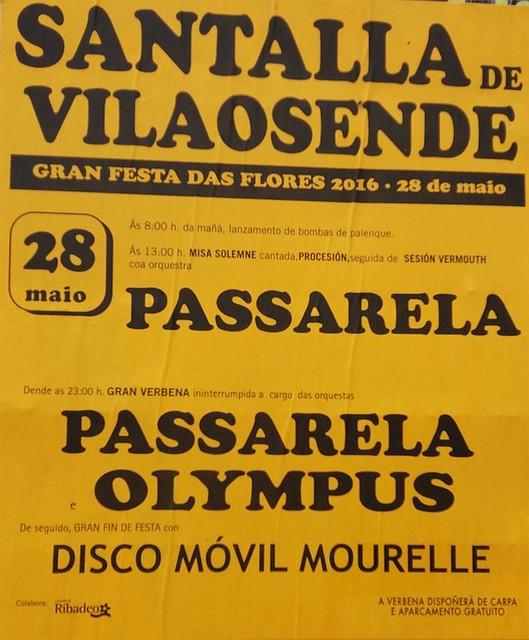 Ribadeo 2016 - Festa das Flores en Santalla de Vilaosende - cartel