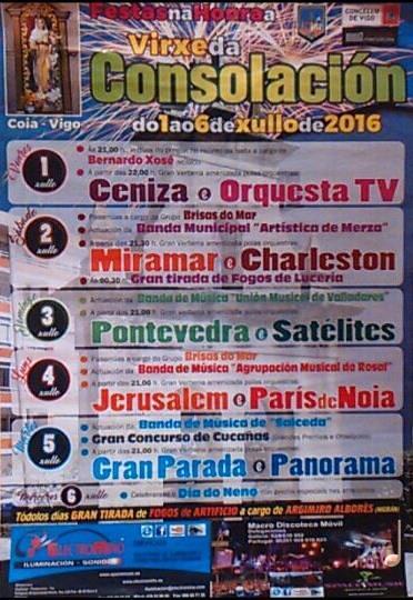 Vigo 2016 - Festas da Consolación en Coia - cartel