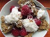 (100% raw) vegan probiotic coco-rasp breakfast